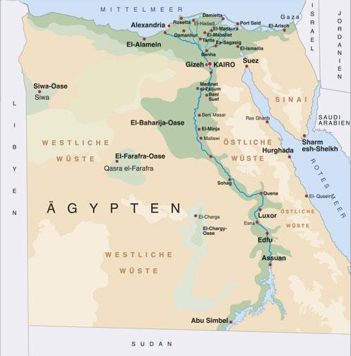 karte aegypten
